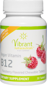 Chewable Vitamin B12 tablets bottle
