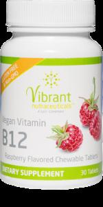Chewable Vitamin B12 tablets bottle