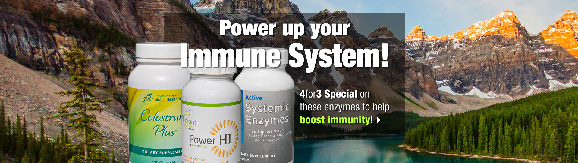 Immune System booster products array