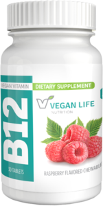 picture of bottle for vegan B12 chewable tablets