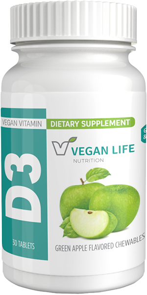 picture of bottle for vegan D3 1000 chewable tab