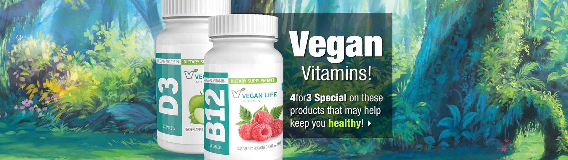 Slide - Vegan Vitamins! 4 for 3