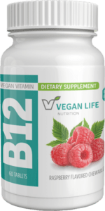 picture of bottle for vegan B12 chewable tablets, 60 Count