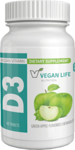 picture of bottle for vegan D3 1000 chewable tab, 60 Count
