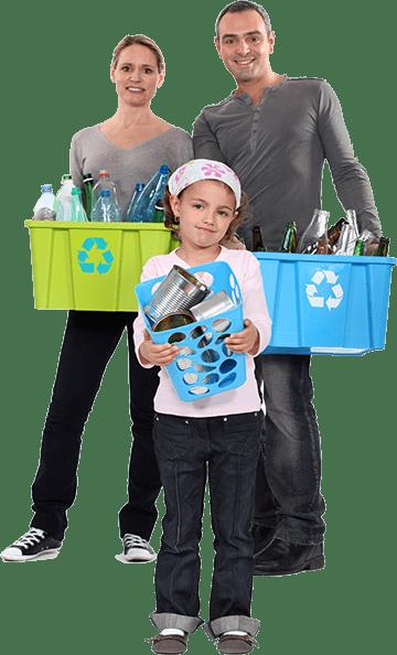 Global Health responsible family waste sorting