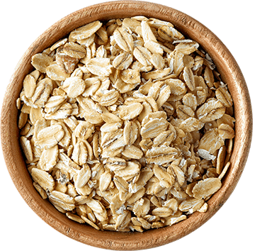 Wooden Bowl with Oat Flakes