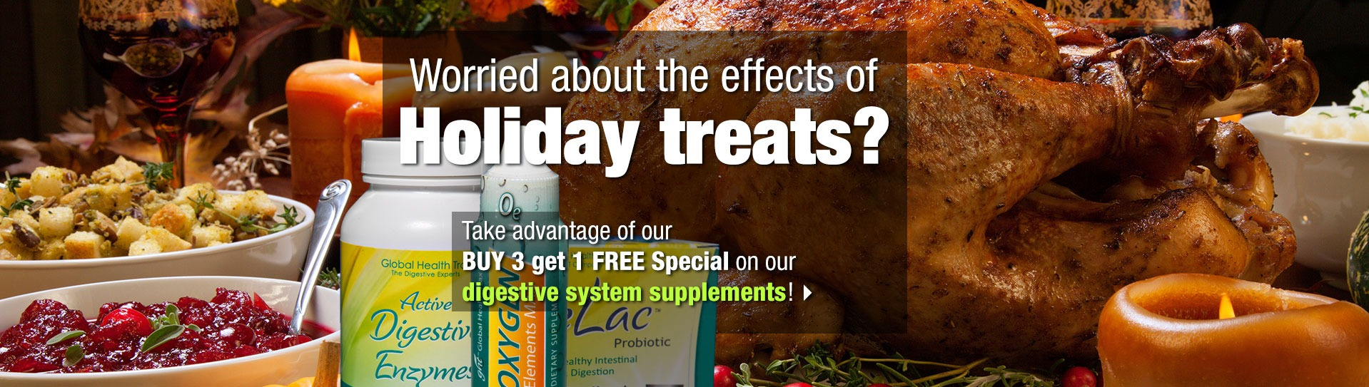 Holiday foods promo slide